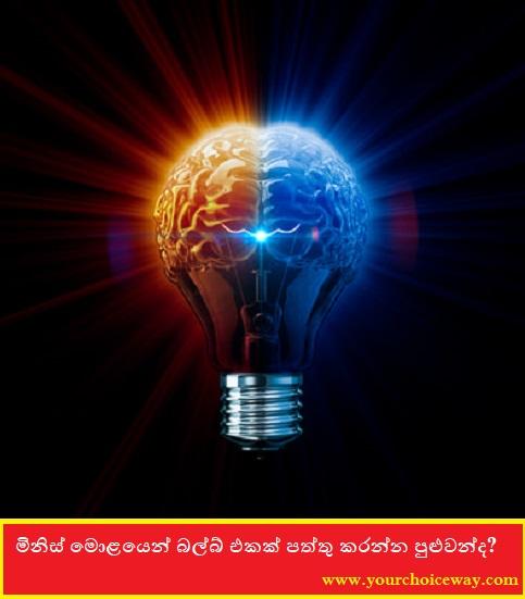 මිනිස් මොළයෙන් බල්බ් එකක් පත්තු කරන්න පුළුවන්ද ...?😱🧠🧠🧠🧠 (Can The Human Brain Light A Bulb?)