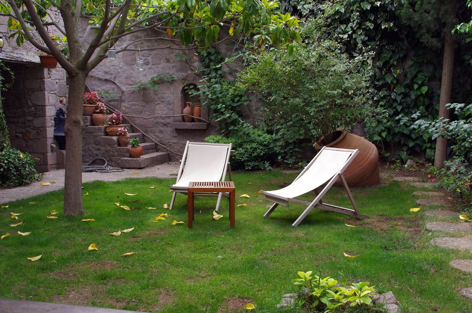 Beautiful gardens at Assos Alarga Boutique Hotel