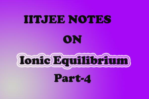 ionic equilibrium chemistry