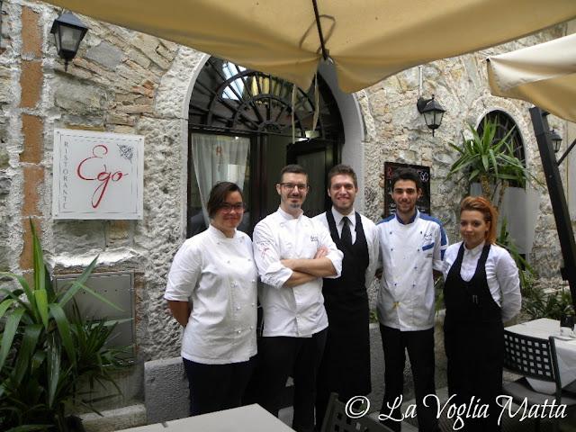 """Il team del Ristorante """"Ego"""" a Trieste -  lo chef Roberto Ubaldini è il secondo da sinistra"""