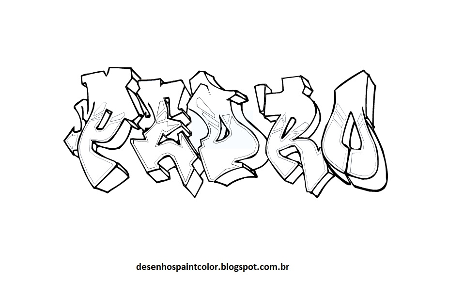 Desenhos Para Colorir De Grafite