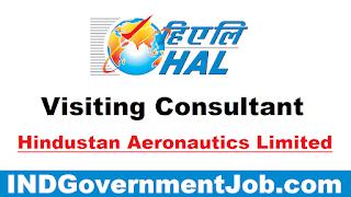HAL Visiting Consultant Recruitment - 5 Vacancies - Last Date: 20th October 2021