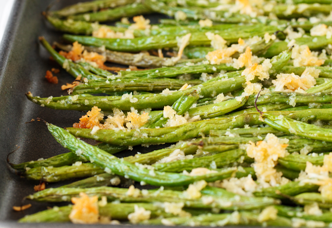 Roasted Parmesan Green Beans #vegan #vegetarian #soup #breakfast #lunch