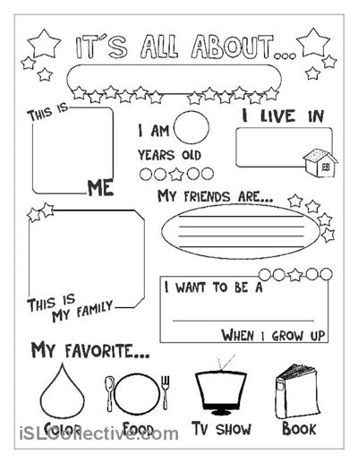 Lucrative image regarding all about me free printable worksheets