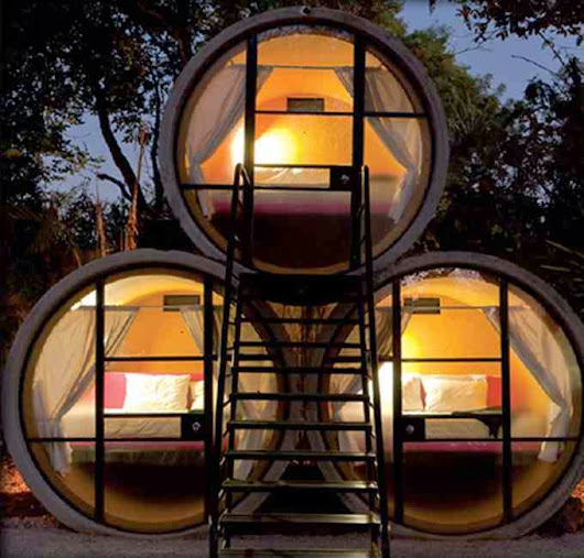 Tubohotel in Mexico: accommodation inside the tube