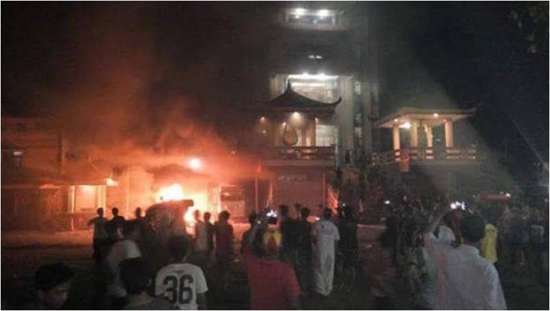 Vihara di Tanjung Balai yang dibakar warga muslim