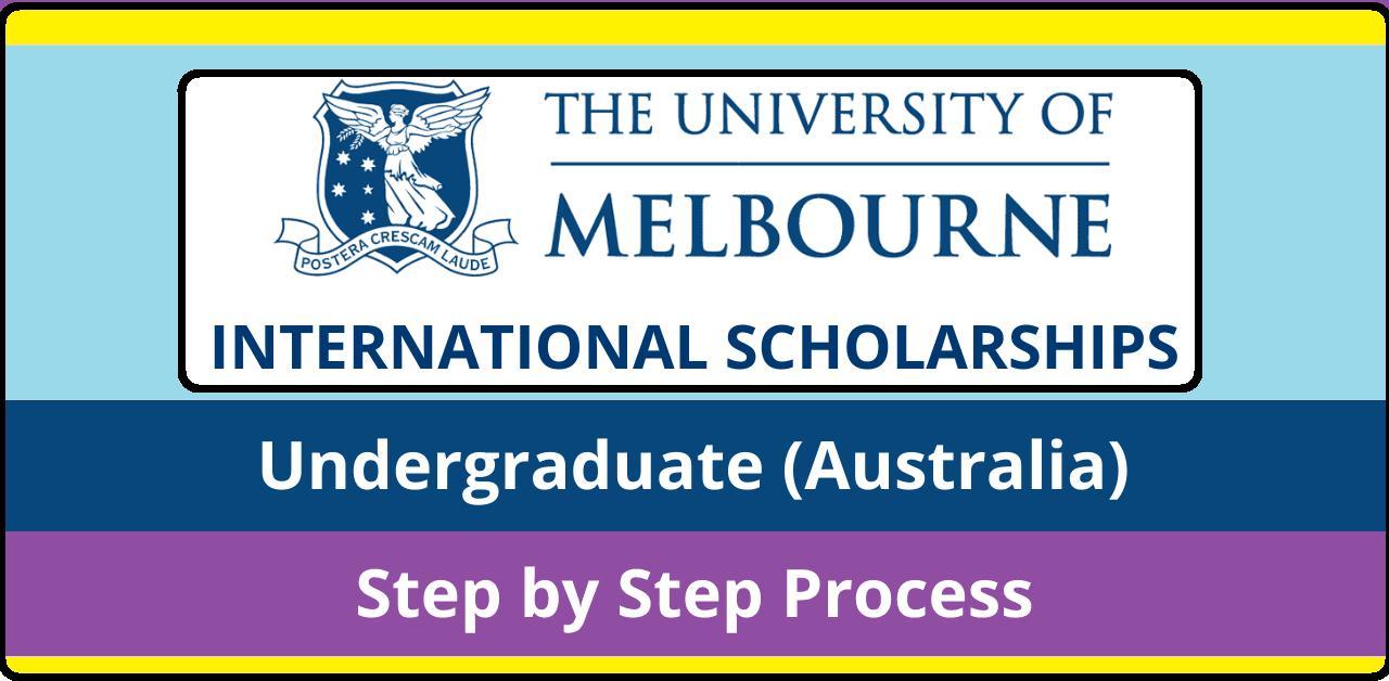 منحة ملبورن الدولية للبكالوريوس 2022-2023 في استراليا