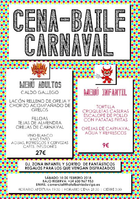 Cena Baile Carnaval en Vigo