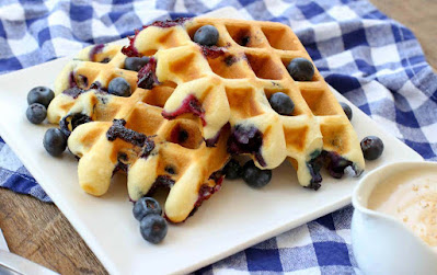Blueberry Waffles Recipe