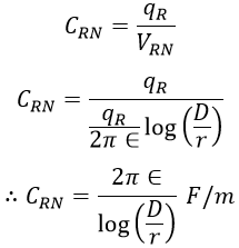 Capacitance of Overhead Transmission Lines