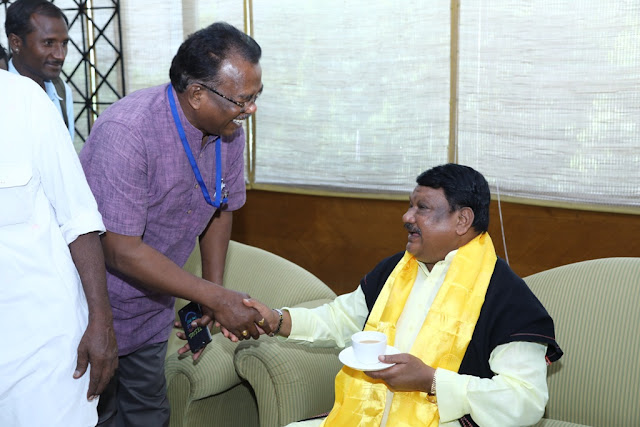 Mr Jual Oram,Union Minister of Tribal Affairs
