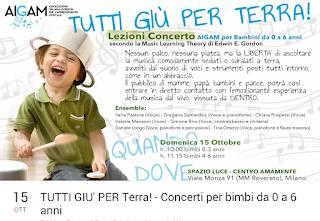 Laboratorio musicale per bambini 0-6 anni a Milano