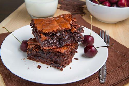 Roast Cherry Dark Chocolate Brownies