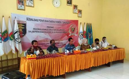 Anggota DPRD Lampung Sosialisasi Perda Rembuk Desa