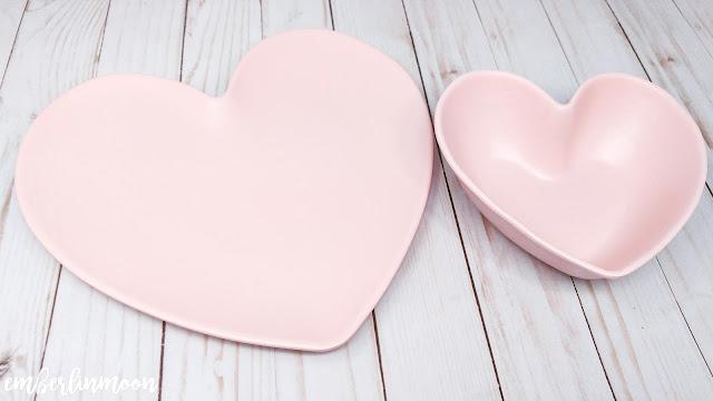 Melamine Heart Plate & Bowl Pink - Opalhouse