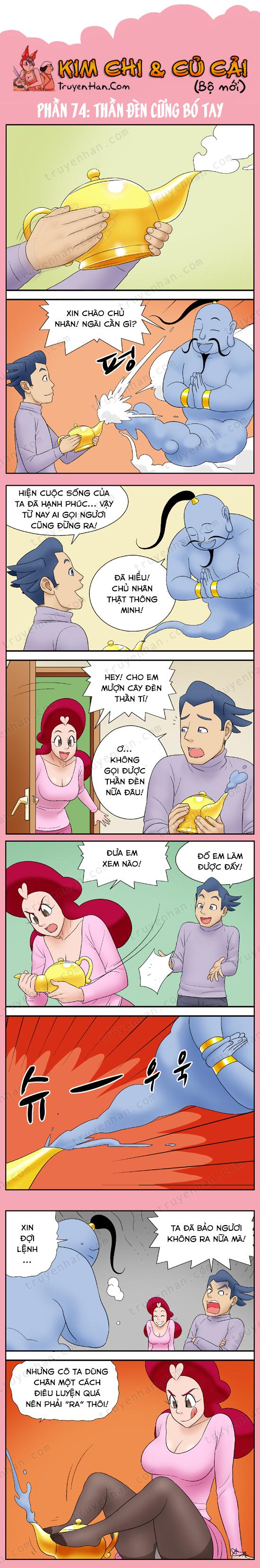 Kim Chi & Củ Cải (bộ mới) phần 74: Thần đèn cũng phải bó tay