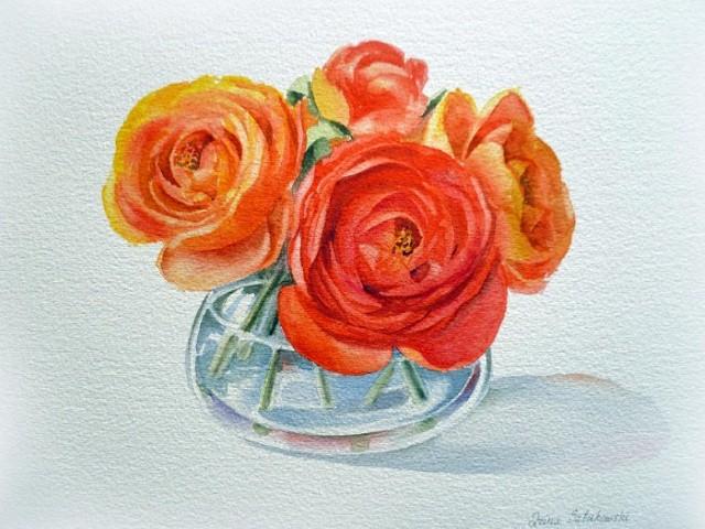 Цветы и цветочные натюрморты акварелью. Irina Sztukowski 9