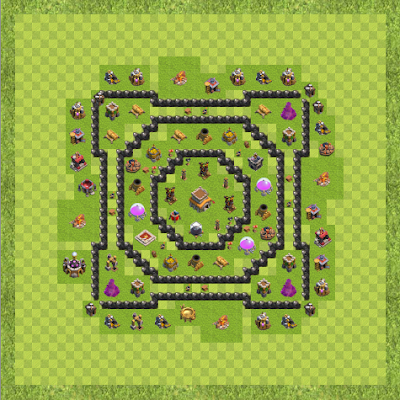 War Base Town Hall Level 8 By arif8880 (ok TH 8 Layout)