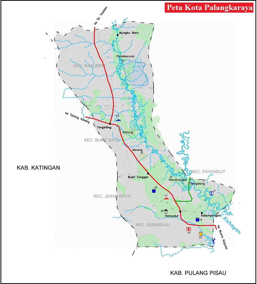 Peta Kota Palangka Raya HD Terbaru