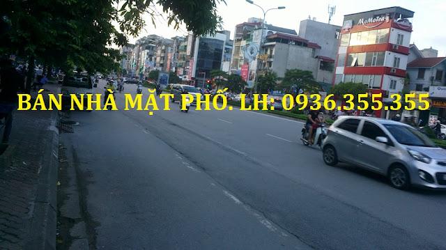 Bán nhà mặt phố Trần Duy Hưng