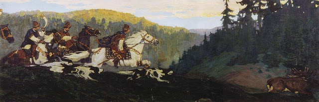 Николай Рерих - Княжья охота. 1901