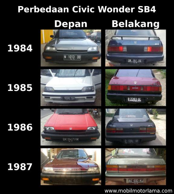 Perbedaan Honda Civic Wonder SB4