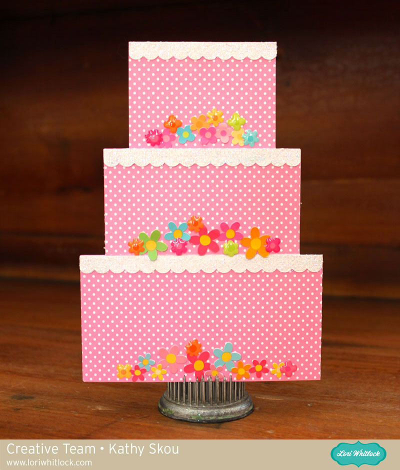 my happy place  lori whitlock  5x7 tiered cake gift card