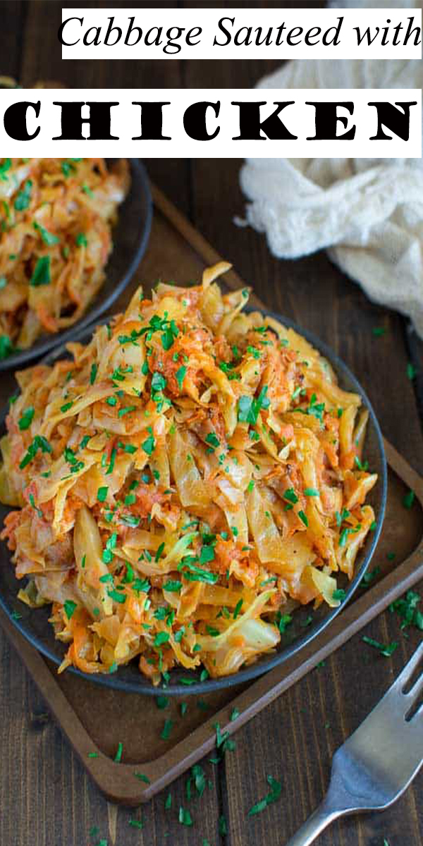 Cabbage Sauteed with Chicken #Cabbage #Sauteed #with #Chicken #food #recipes #dinner #healthy
