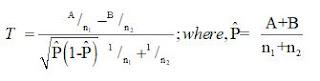 formula of median test