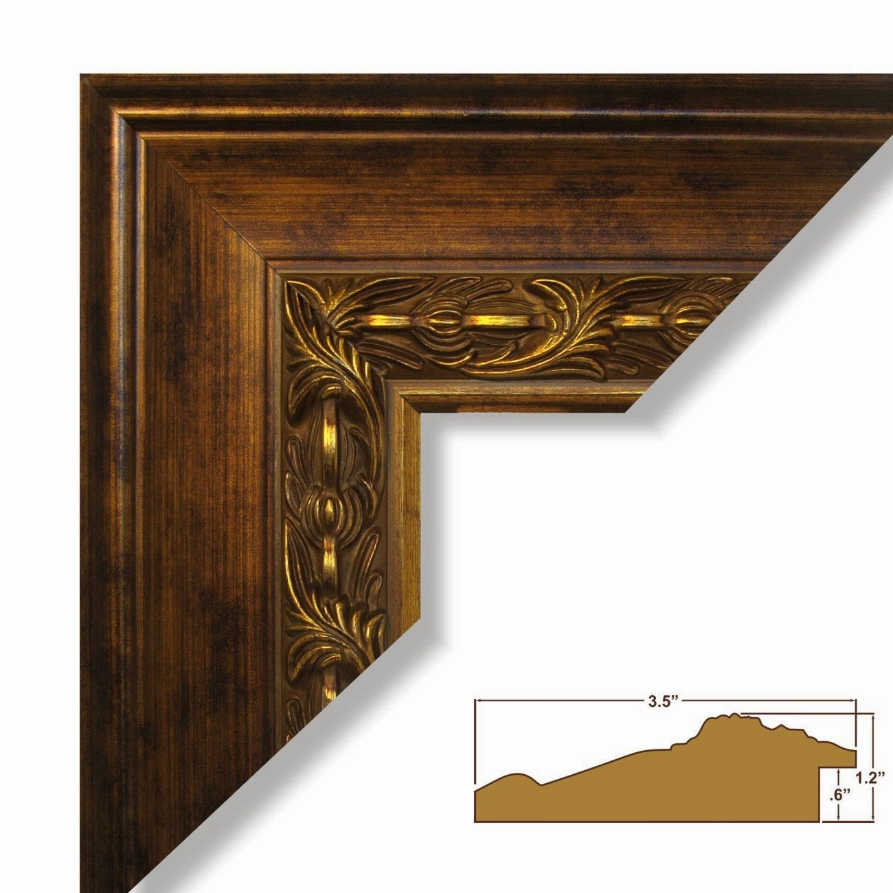 20x28 Ornate Brushed Gold 3 65 Inch Wide Complete Custom Real Wood Picture Frame