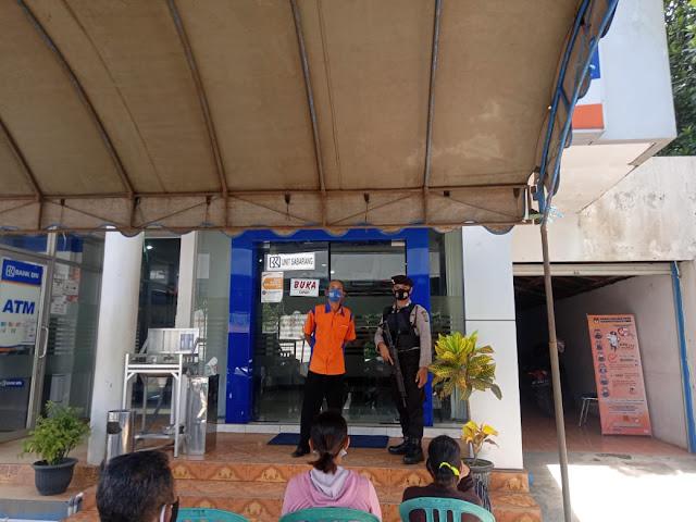 Satsabhara Polres Bartim Laksanakan Pengamanan BRI Unit Sabarang
