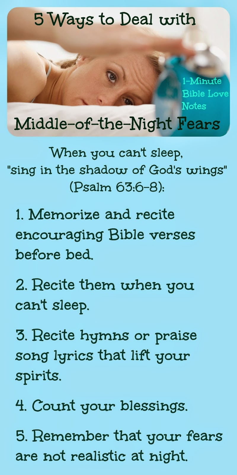 night terrors, night worries, peace in God, Psalms