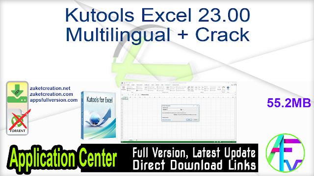 Kutools Excel 23.00 Multilingual + Crack