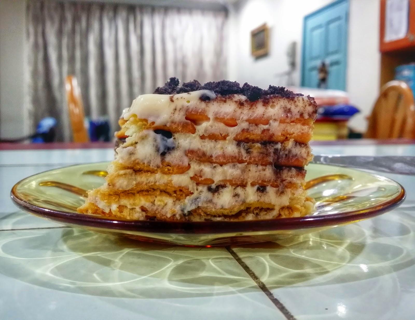 resepi pemanis mulut popular cheesekut oreo strawberry riang gembira cahaya  riang Resepi Kek Batik Strawberry Enak dan Mudah