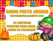 BINGO DE PALAVRAS - FESTA JUNINA - 35 CARTELAS PARA USAR COM A TURMA