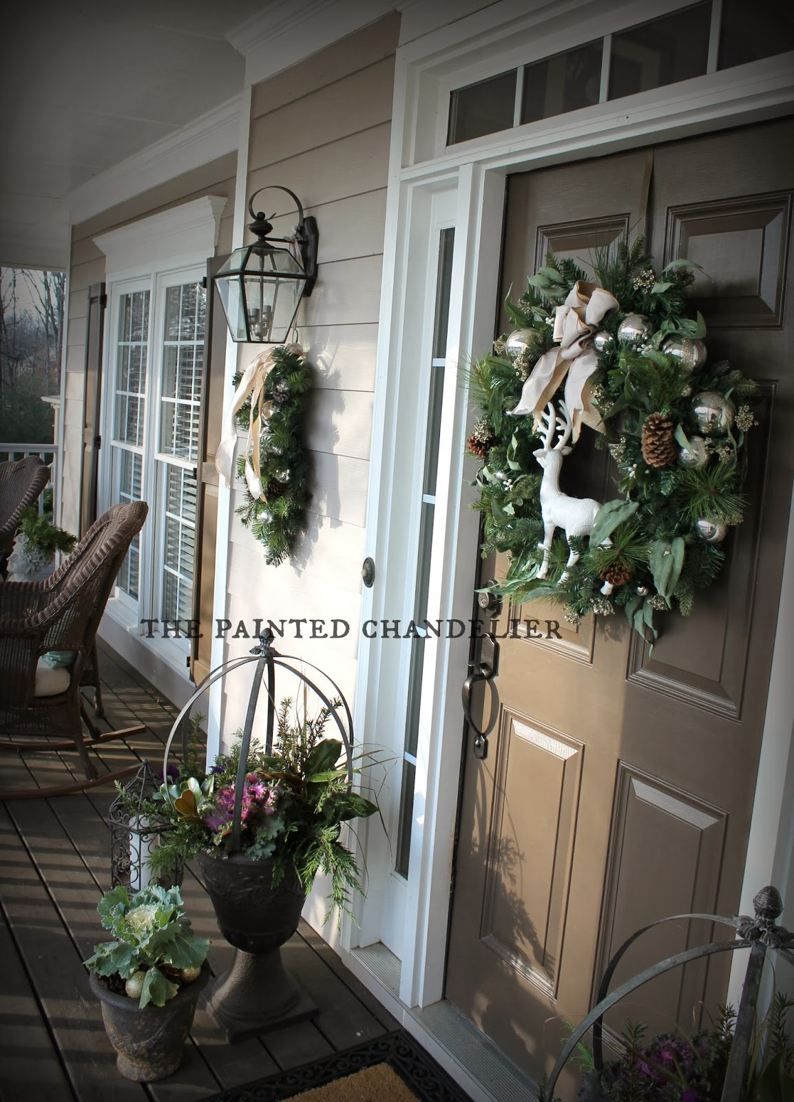 Christmas Porch Tour The Painted Chandelier Blog