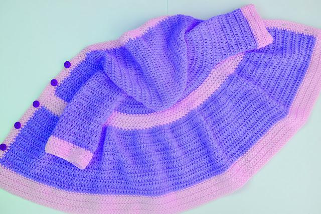 5 - Crochet Imagen Abrigo para canesú a crochet y ganchillo por Majovel Crochet¡