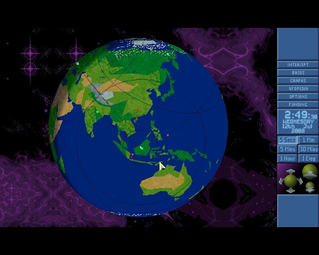 Open X-Com X-Files Globe View