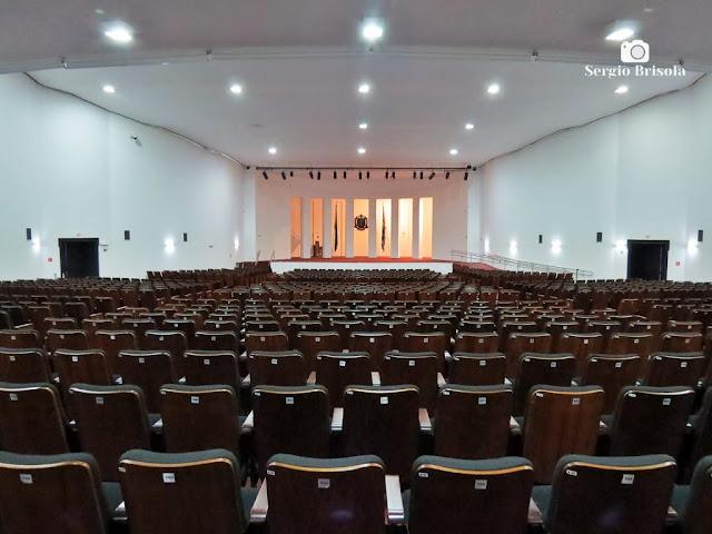 Vista ampla do auditório do Palácio dos Bandeirantes - Morumbi - São Paulo
