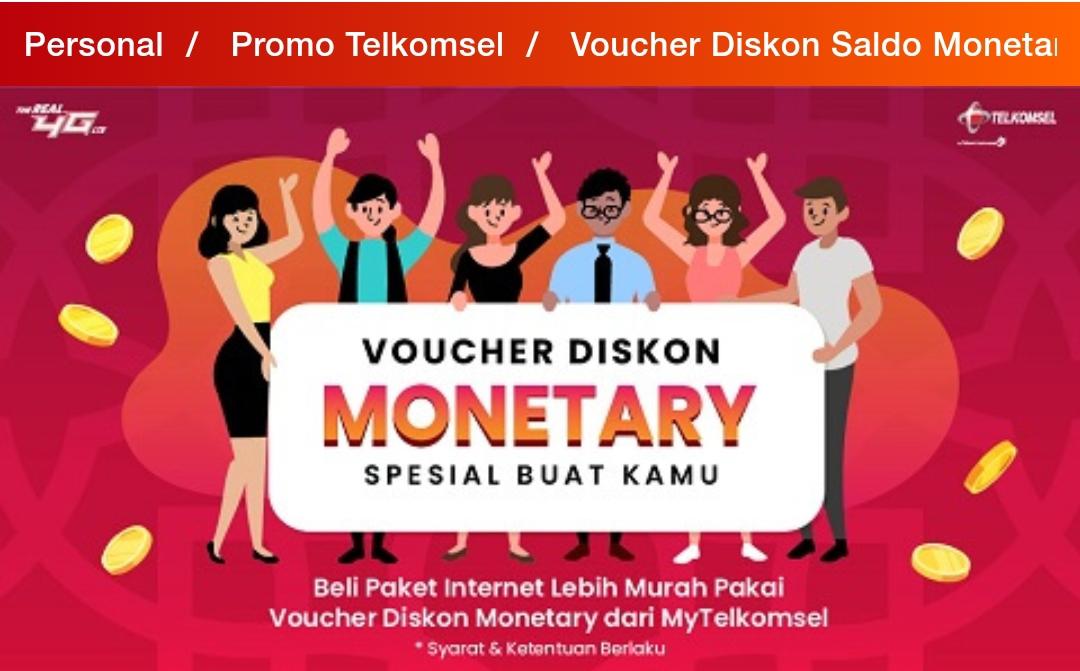 Cara Menggunakan Saldo Diskon Monetary My Telkomsel