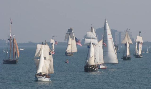 Image of Parade of Sail. Image credit Kenosha Tall Ships