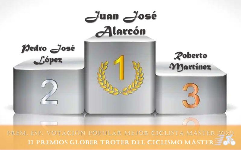 Premio y finalistas al Premio Especial Mejor Ciclista Máster 2020 a votación popular