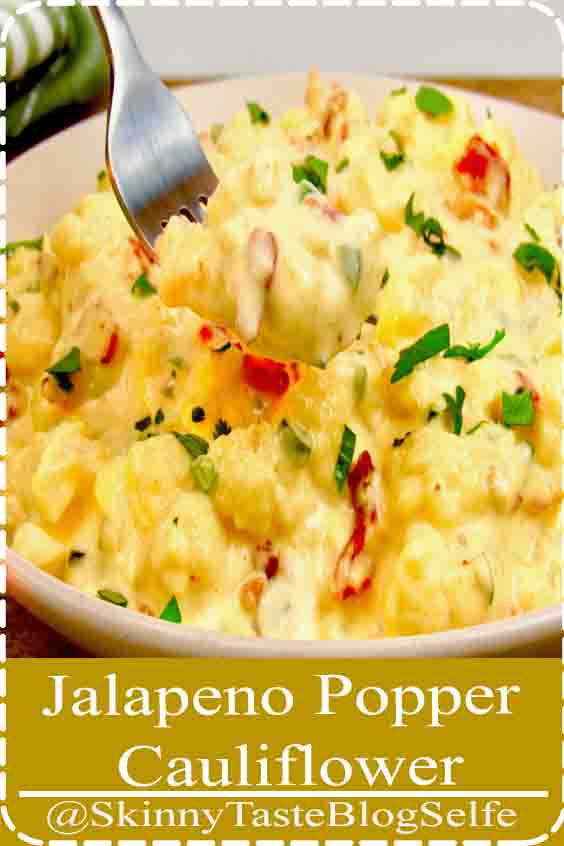 4.9 | ★★★★★ All the flavors of jalapeno poppers made into a creamy and delicious cauliflower mac and cheese!#Delicious #Recipes #lowcarbrecipes #lowcarb #Jalapeno #Cauliflower