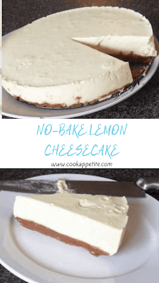 No Bake Lemon Cheesecake is a simple dessert made with only a few ingredients. It's easy to make and comes together in just a few minutes without having to turn on the oven.