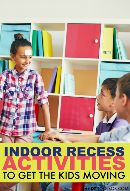 During the winter months, kids can have trouble staying active! These indoor recess ideas will help with adding movement, bilateral coordination, motor planning, and development through indoor games.
