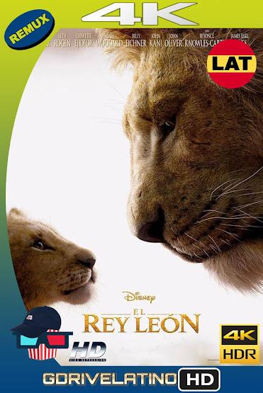 El Rey León (2019) BDRemux 4K HDR Latino-Ingles MKV