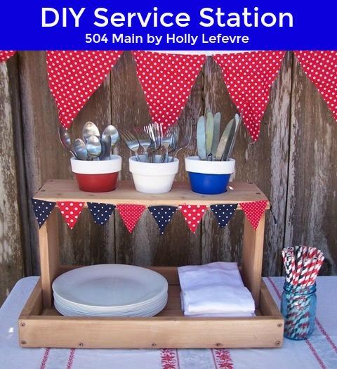 DIY service station for entertaining