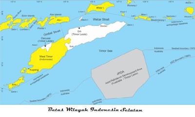 Batas wilayah Indonesia bagian selatan