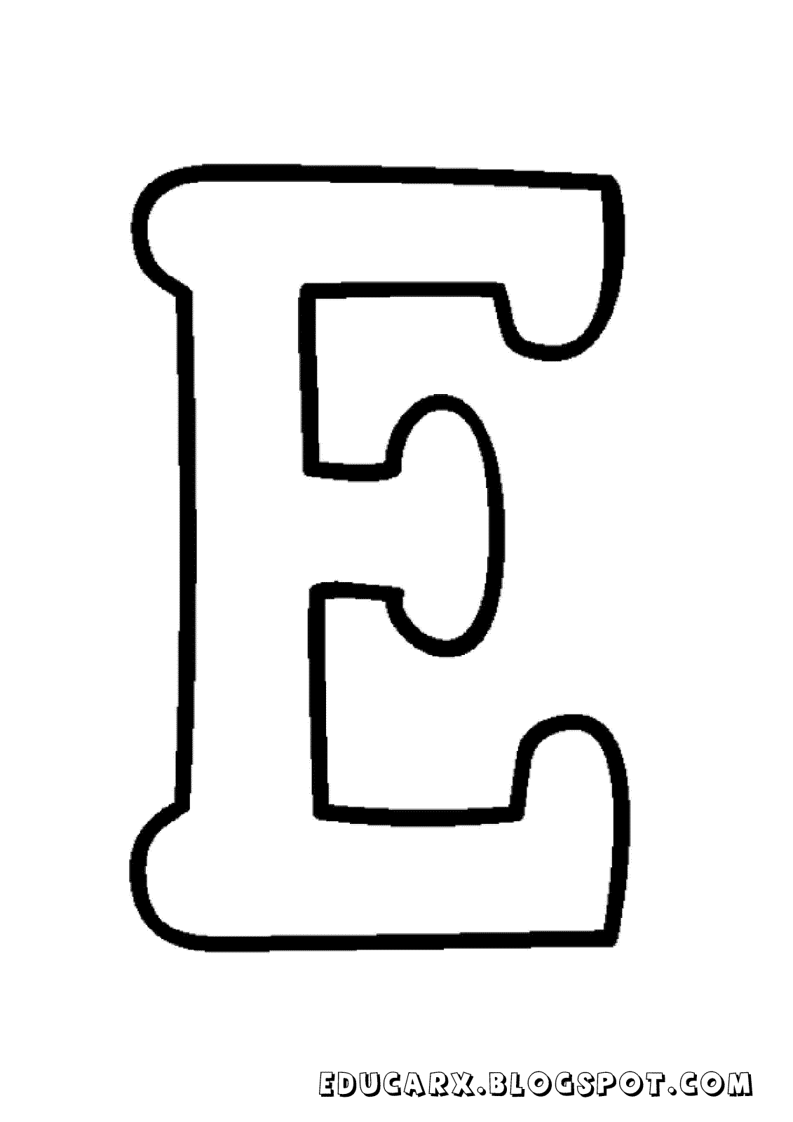 Educar X Molde De Letras Maiusculas E Minusculas