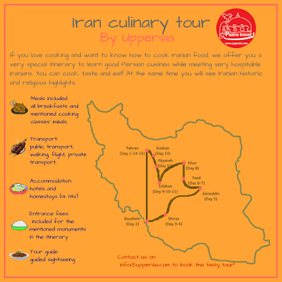 Join Uppersia Culinary Tour to travel through highlights of Iran and to learn cooking different Iranian cuisines.